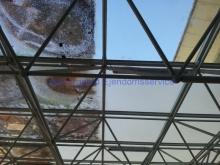 Afrensning glastag OUH, foto 2